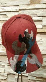 Custom wrench hat by Monique Hurteau